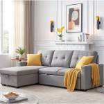 82 Sleeper Sectional Sofa Storage Chaise With Pull Out Bed 3 Seat Right Handed On Sale Overstock 31784293