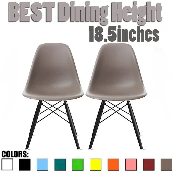 mid century modern plastic chairs big and tall patio shop 2xhome set of 2 gray for kitchen desk dining room home