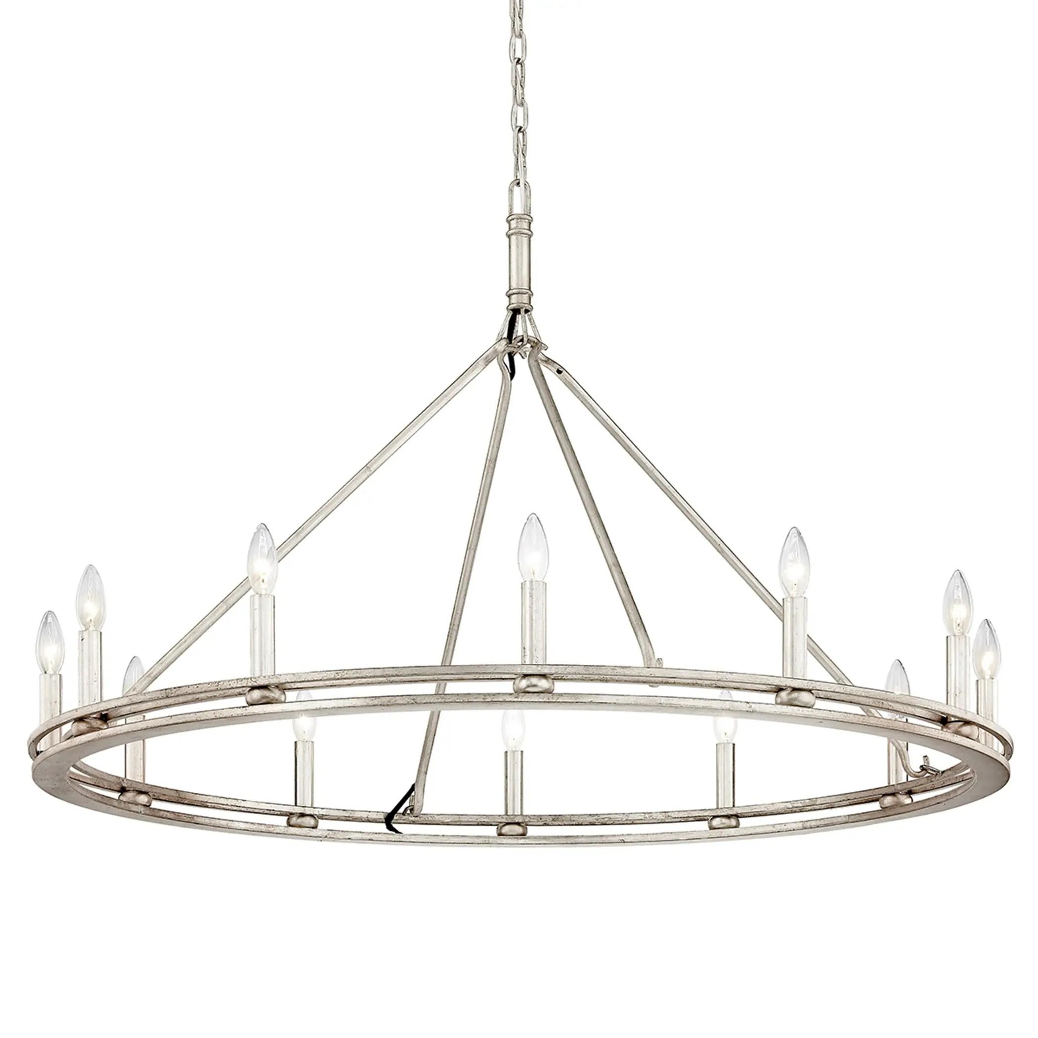 troy lighting sutton 12 light champagne silver leaf chandelier