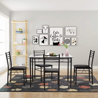 kitchen glass table granite buy dining room tables online at overstock com our vecelo sets with 4 chairs