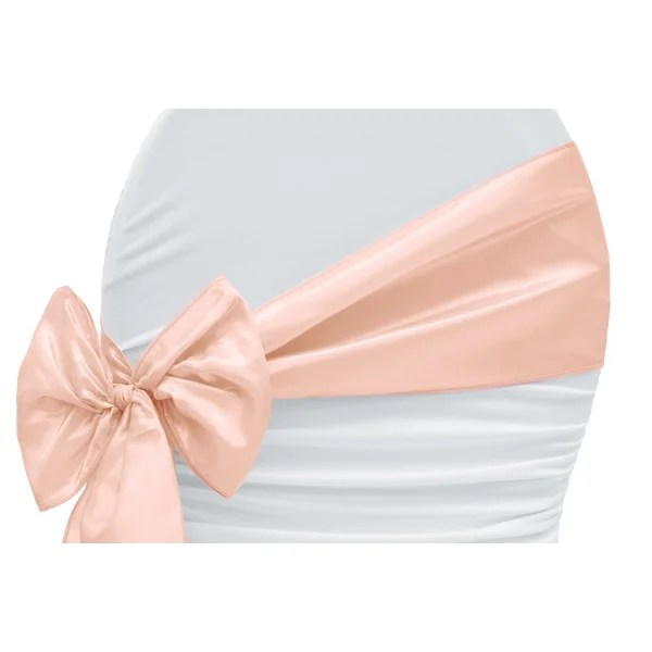 rose gold satin chair sashes executive arm covers shop blush taffeta sash pack of 10 free shipping on orders over 45 overstock com 18740117