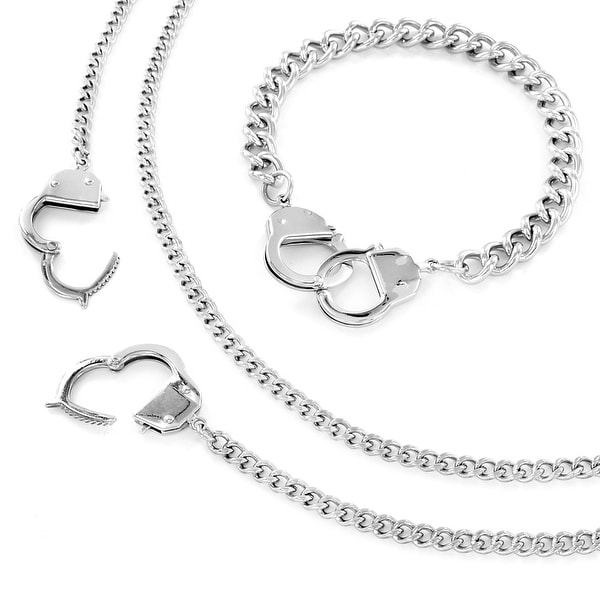 Shop Stainless Steel Chain Hand Cuff Bracelet and Necklace
