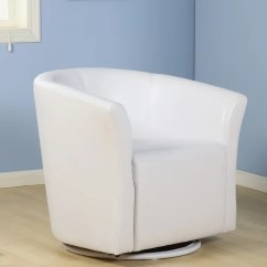 Tub Accent Chair Relax Recliner Shop Belleze Faux Leather Club Barrel Modern With Arm Rest And 360 Degree Swivel