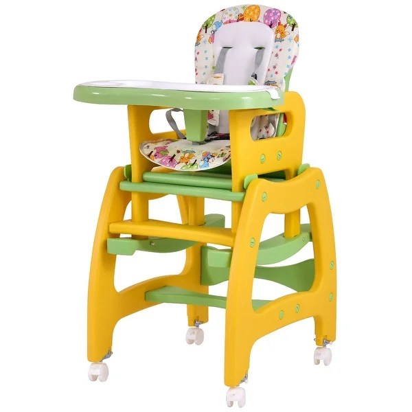 badger basket evolve high chair huge round shop costway 3 in 1 baby convertible play table seat booster toddler feeding tray