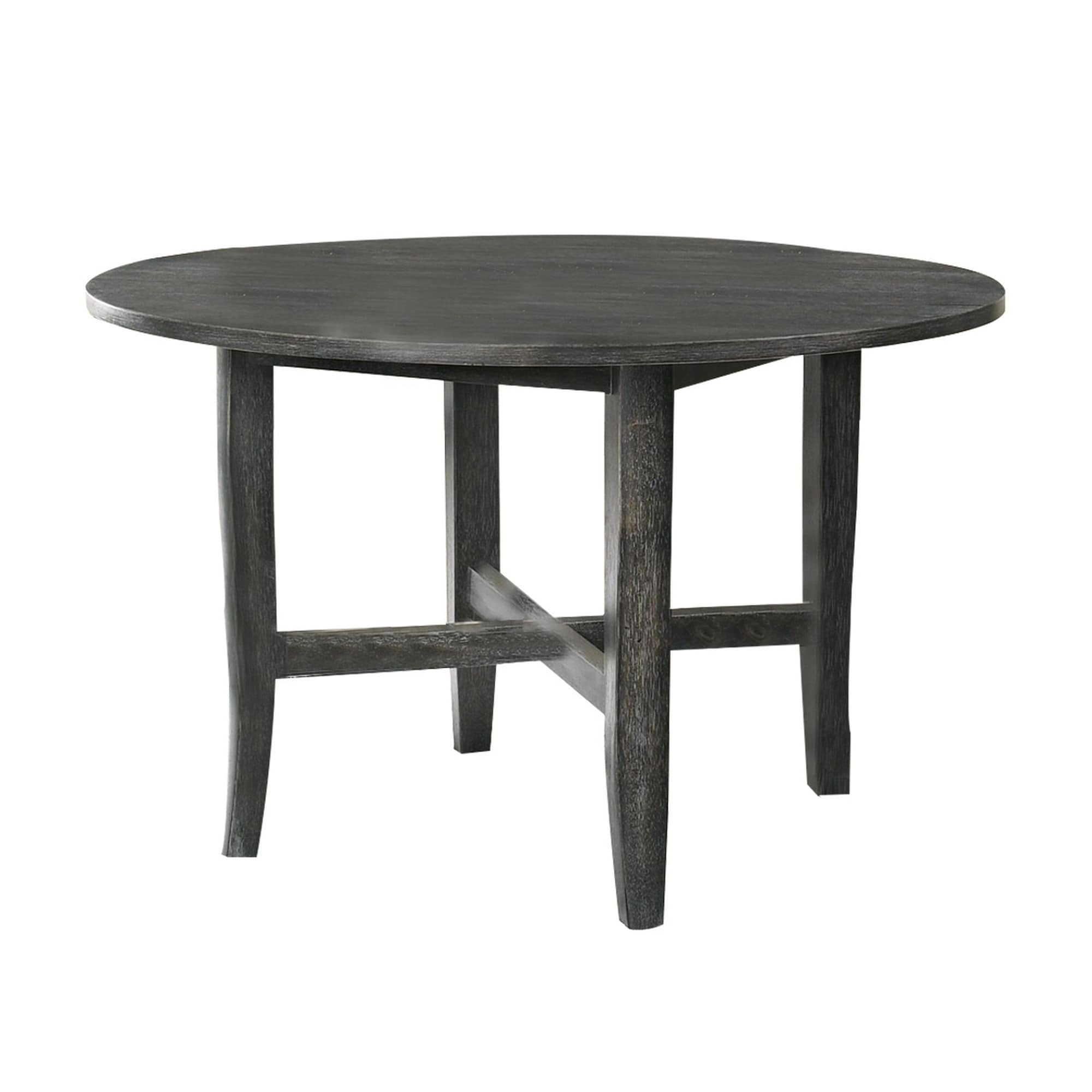47 Inch Farmhouse Style Round Wooden Dining Table Rustic Gray On Sale Overstock 31768302