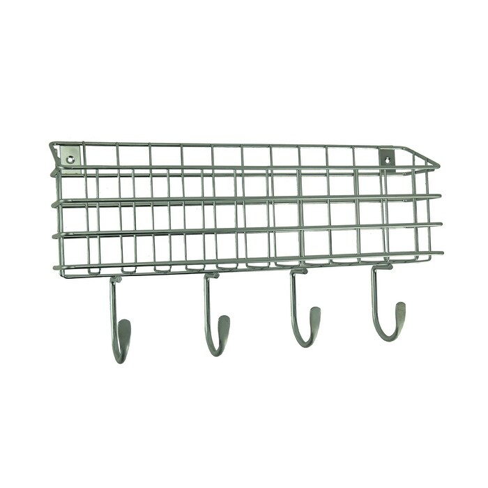 franklin brass industrial style metal wire mail holder wall hook rack