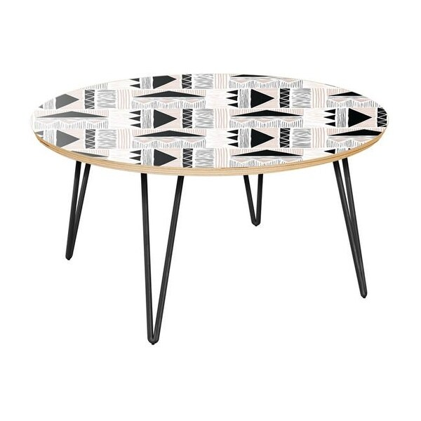 stella sofa table where are restoration hardware sofas made shop hairpin coffee mudcloth print natural black free shipping today overstock com 21987574