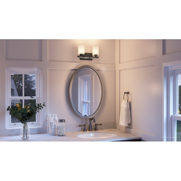 Shop Luxury Mid Century Modern Bathroom Vanity Light 7 875 H X 14 25 W With Art Deco Style Charcoal Finish By Urban Ambiance Overstock 28670689