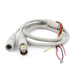 shop unique bargains female bnc 5 5x2 1mm dc power jack to 5 wire cctv camera power cable gray free shipping on orders over 45 overstock 18249172 [ 1100 x 1100 Pixel ]