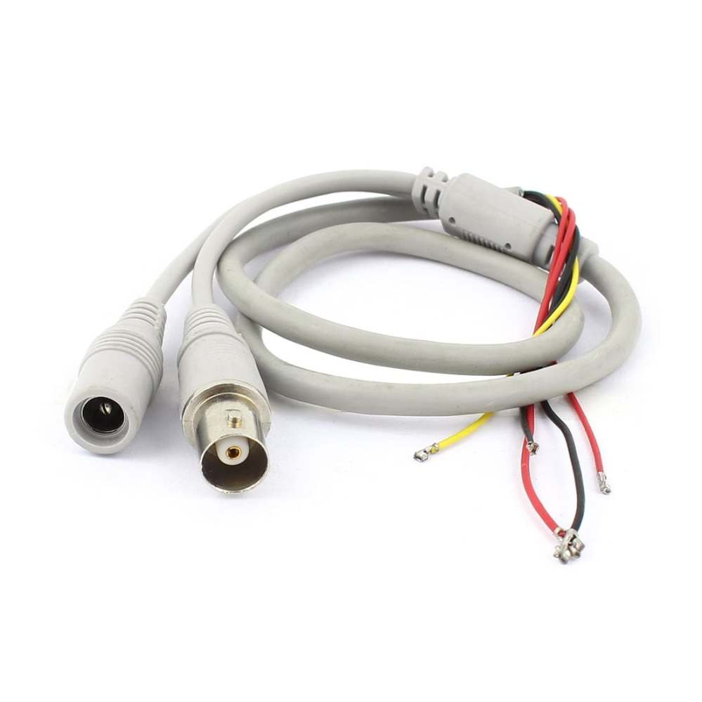medium resolution of shop unique bargains female bnc 5 5x2 1mm dc power jack to 5 wire cctv camera power cable gray free shipping on orders over 45 overstock 18249172
