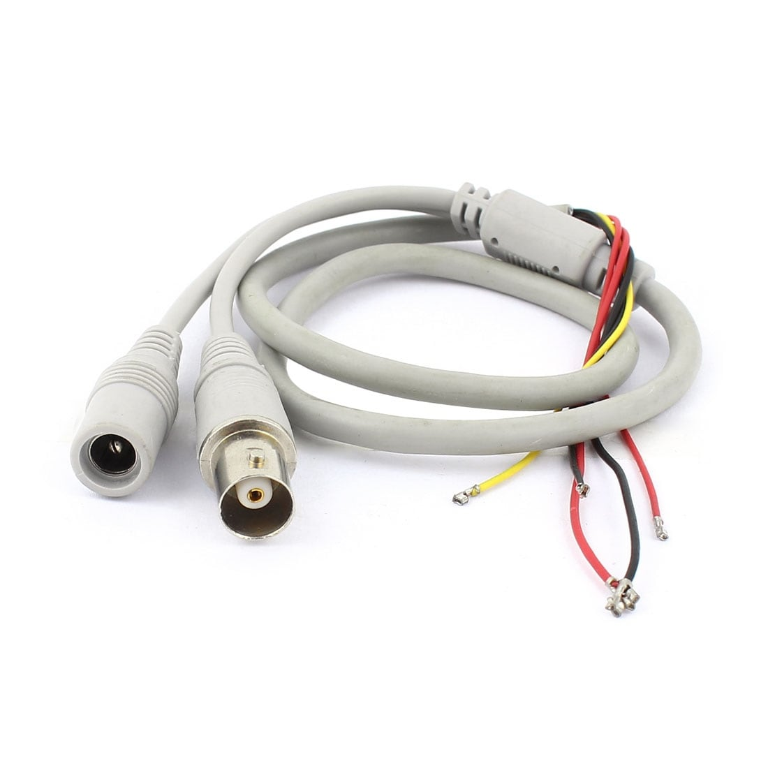 hight resolution of shop unique bargains female bnc 5 5x2 1mm dc power jack to 5 wire cctv camera power cable gray free shipping on orders over 45 overstock 18249172