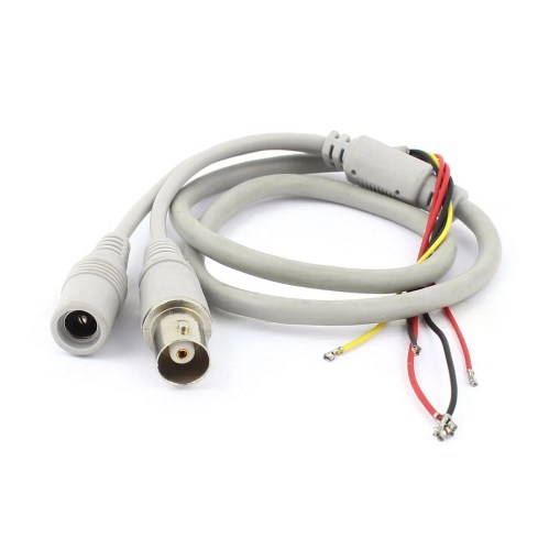 small resolution of shop unique bargains female bnc 5 5x2 1mm dc power jack to 5 wire cctv camera power cable gray free shipping on orders over 45 overstock 18249172