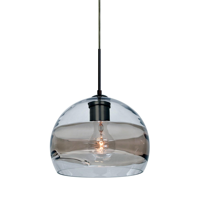Shop Besa Lighting 1jt Spir8sc Spirit Single Light Mini Pendant With Smoke And Clear Glass Shade Overstock 13227145