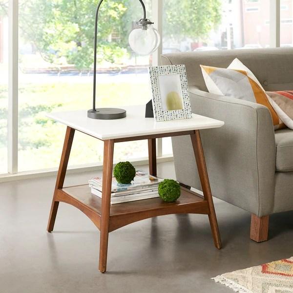buy mid century modern coffee console