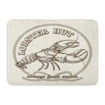 Vintage Seafood Restaurant Retro Emblem Dinner Fresh Lobster Drawing Food Doormat Floor Rug Bath Mat 23 6x15 7 Inch Multi On Sale Overstock 31777694