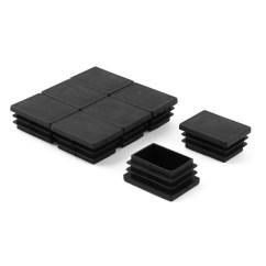 Plastic Inserts For Metal Chair Legs Revolving Height Shop Desk Rectangle Tube End Blanking Caps Black 8pcs