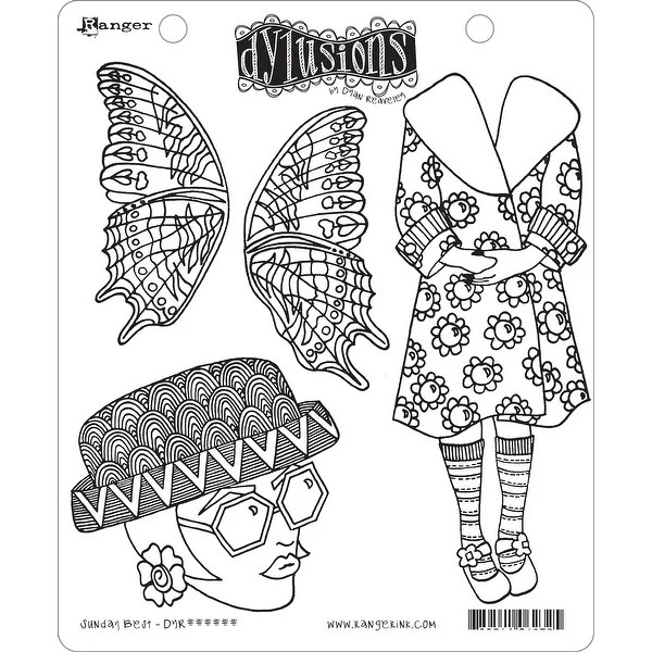 Shop Dyan Reaveley's Dylusions Cling Stamp Collections 8.5