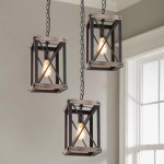 Shop Black Friday Deals On Lnc 1 Light Foyer Pendant Lights Rustic Hanging Lantern Chandeliers Overstock 22391633 W 9 X W 9 X H 16 Brown