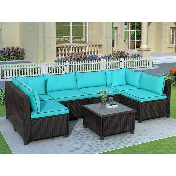 u shape sectional outdoor furniture set