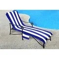 beach towels with pocket for lounge chair kampa accessories shop chaise cover pool lounge, lawn, patio slip-on back - free shipping on orders ...