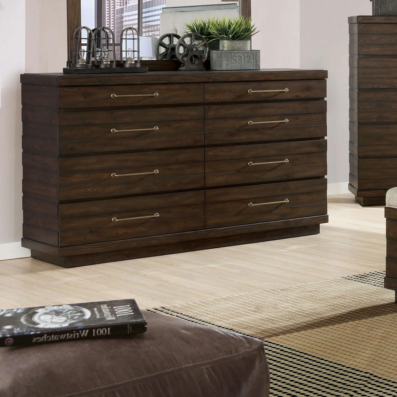 furniture of america syra transitional walnut solid wood dresser