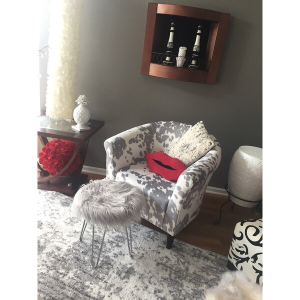 cowhide print accent chair trailer hitch chairs shop the gray barn goddard on sale free shipping today overstock com 17657949