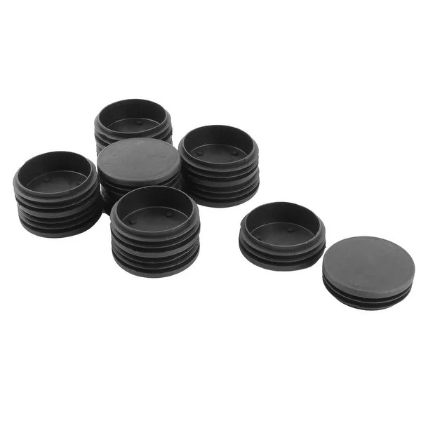 plastic inserts for metal chair legs captain chairs suv shop round flat type table leg caps tube insert black 76mm dia 12pcs on sale free shipping orders over 45 overstock com 17645848