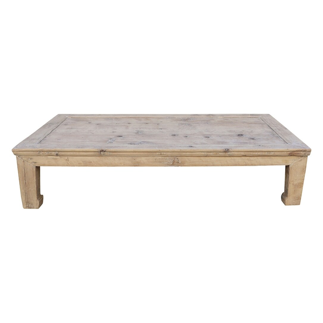 Extra Large Vintage Coffee Table W Excellent Top About 40 50 Inch Wide Weathered Natural Wood Finish Size And Color Vary On Sale Overstock 31501207