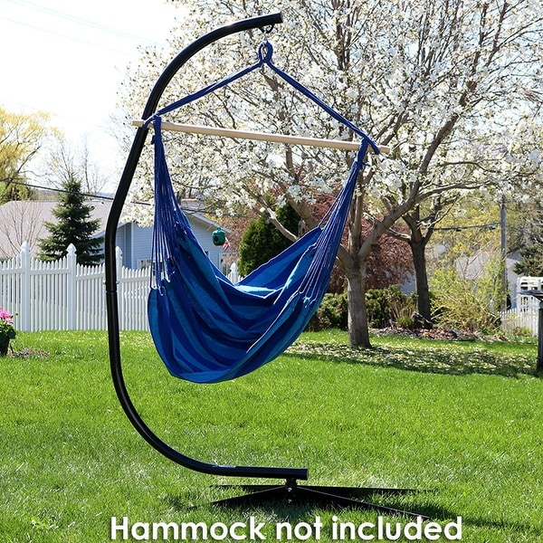 hammock chair c stand smith hawken adirondack chairs shop sunnydaze powder coated steel for hanging and swings