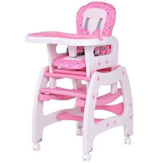 best high chair for baby round seat cushions wicker chairs buy top rated online at overstock com our costway 3 in 1 convertible play table booster toddler feeding tray pink