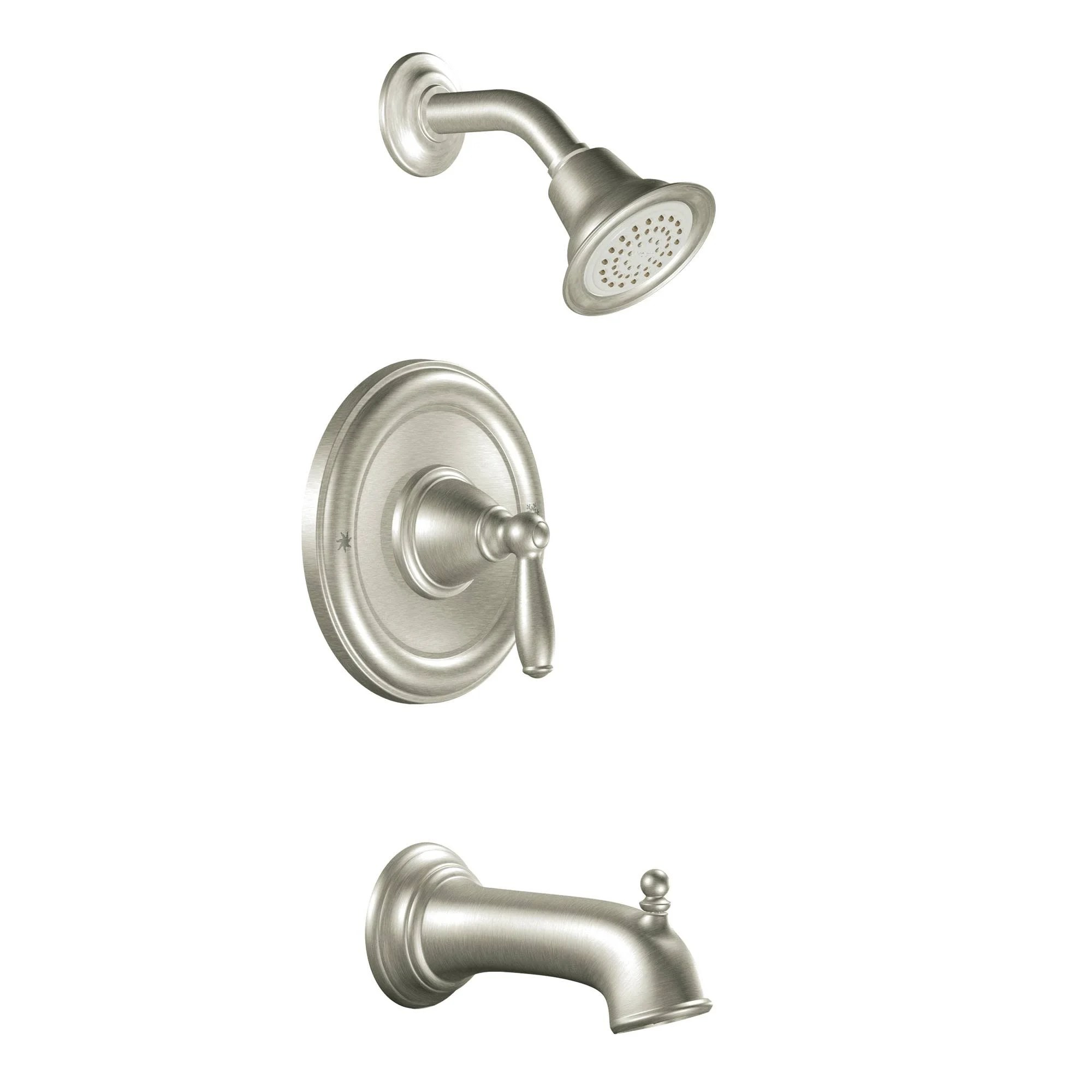 Moen T2153 Posi Temp Pressure Balanced Tub And Shower Trim With 2 5 Gpm Shower Head And Tub Spout From The Brantford Collection