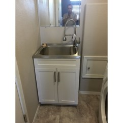 30 Inch Kitchen Sink Remodeling Tips Wyndenhall Hartland 24-inch Laundry Cabinet With Faucet ...