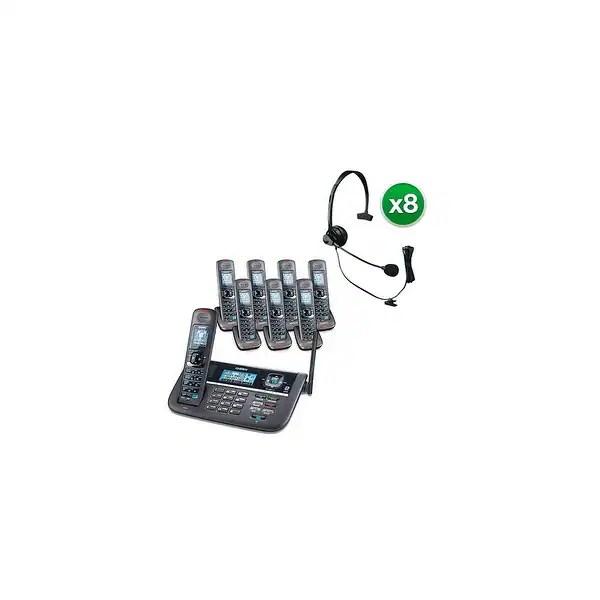 Shop Uniden DECT4086-8 w/ Headset DECT 6.0 2 Line Cordless