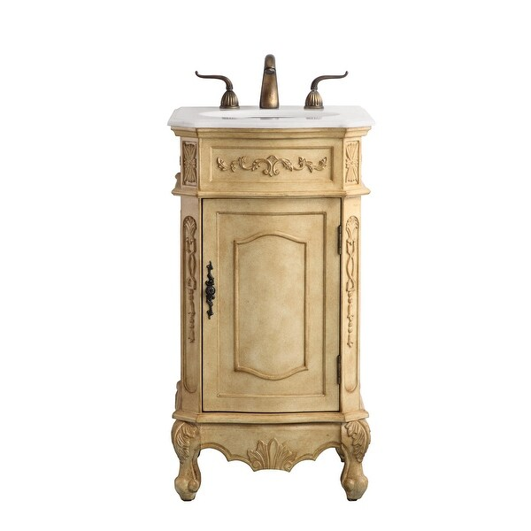 Shop Victorian Style Bathroom Vanity Cabinet Set With Marble Top On Sale Overstock 31301594