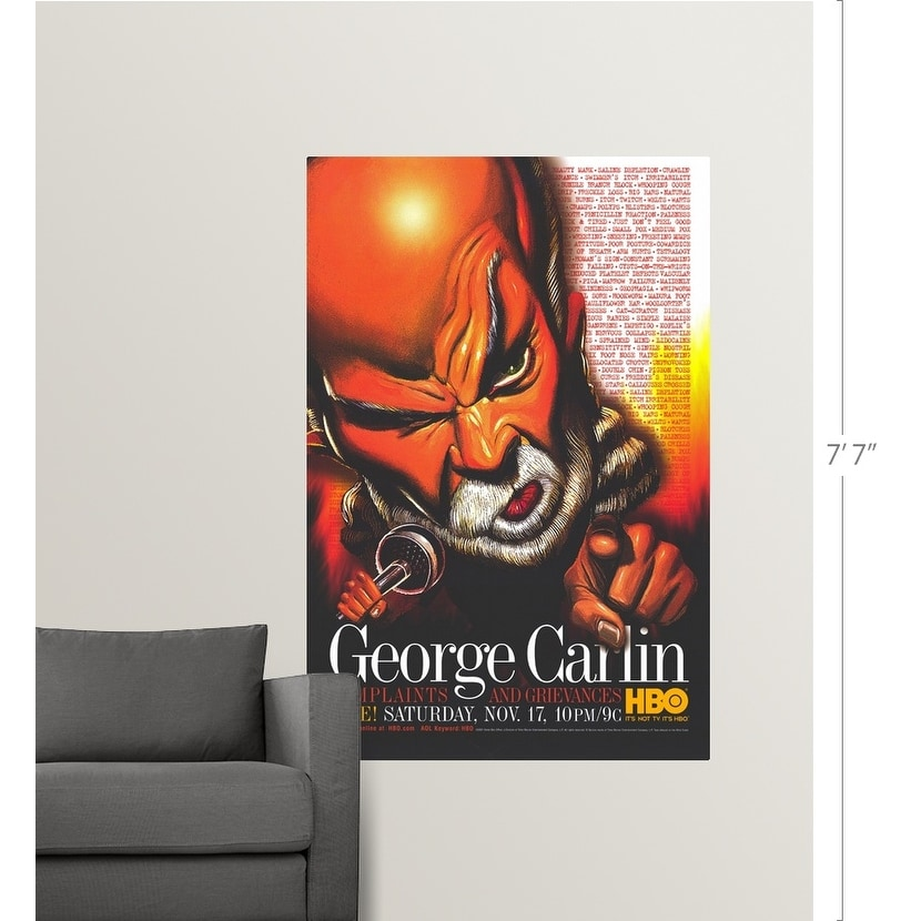 george carlin complaints and grievances 2001 poster print