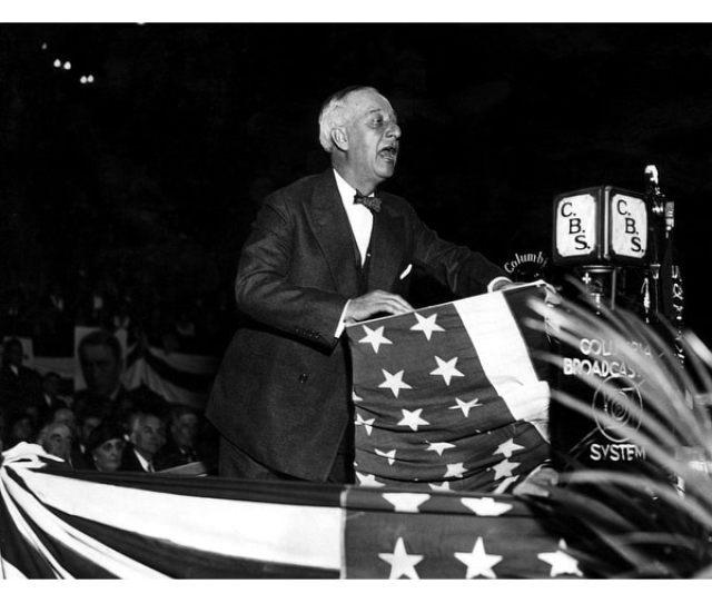 Former New York Governor Alfred E Smith During His Speech In The Rally On November 5