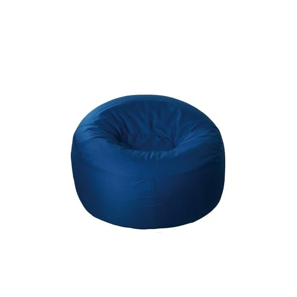 inflatable lawn chair invisible trick kit shop 40 blue round outdoor patio lounge with cover