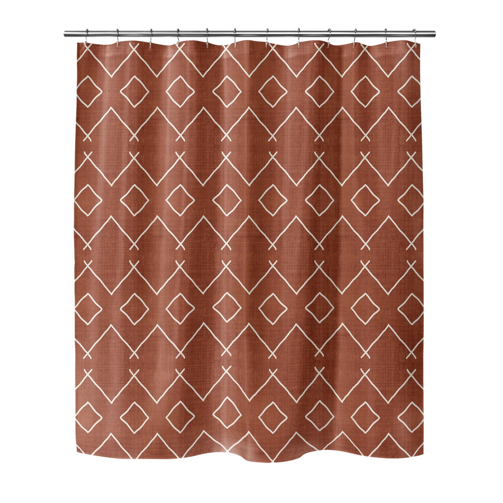 bath rust shower curtain by erin vanessa