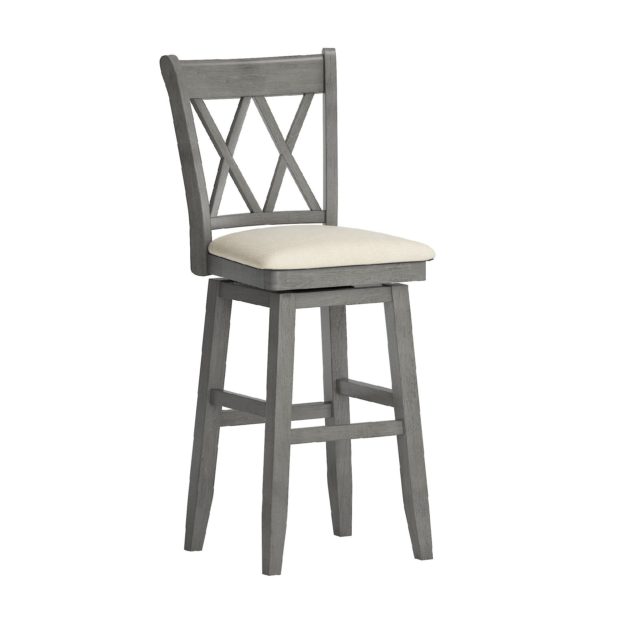 Shop Eleanor Double X Back Wood Swivel Bar Stool By Inspire Q Classic On Sale Overstock 20457171