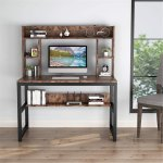 47 Inches Computer Desk With Hutch Writing Desk With Shelves Overstock 30394876