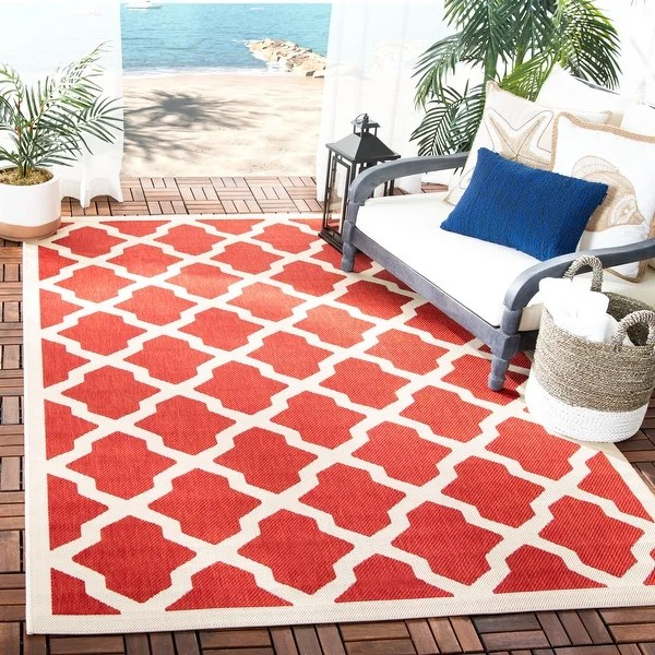 buy red outdoor area rugs online at