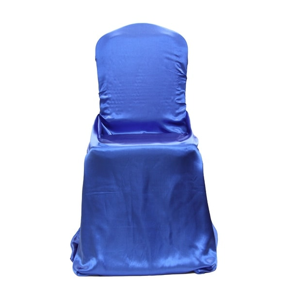 royal blue chair covers affordable rocking chairs shop universal satin self tie cover free shipping