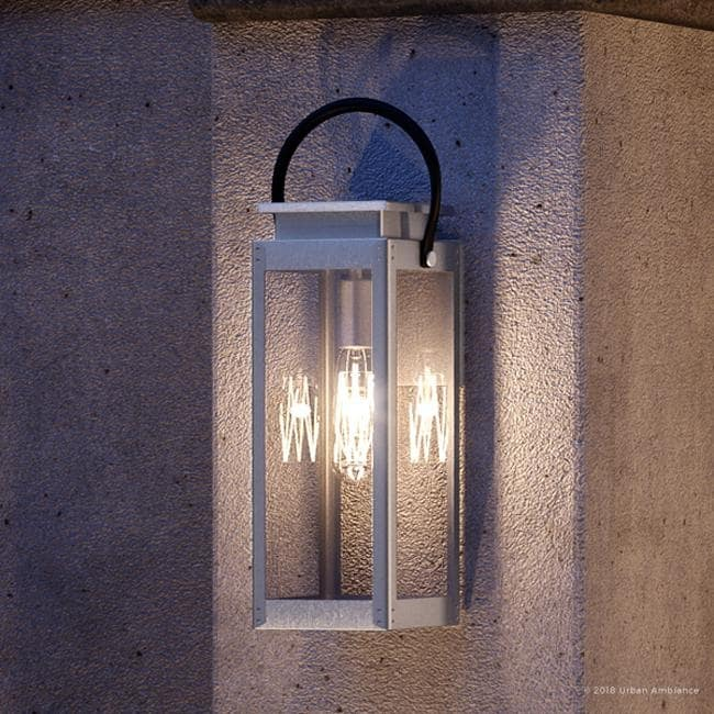 luxury modern farmhouse outdoor wall light 23 625 h x 9 75 w with nautical style stainless steel finish by urban ambiance
