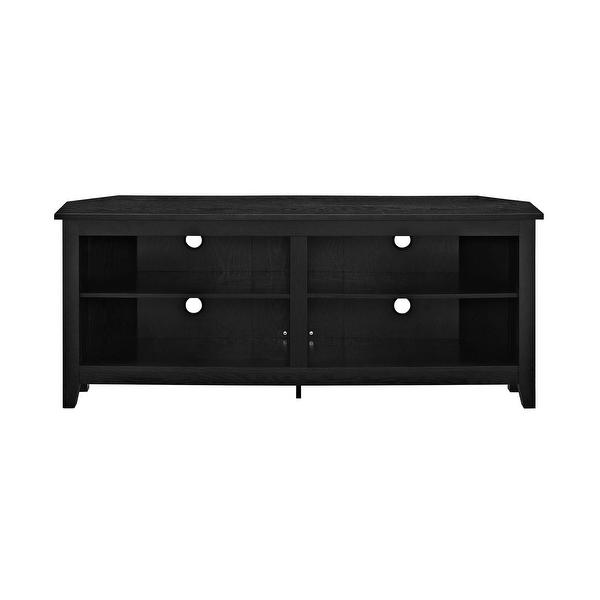 "Shop WE Furniture 58"" Wood Corner Media TV Stand Storage ..."