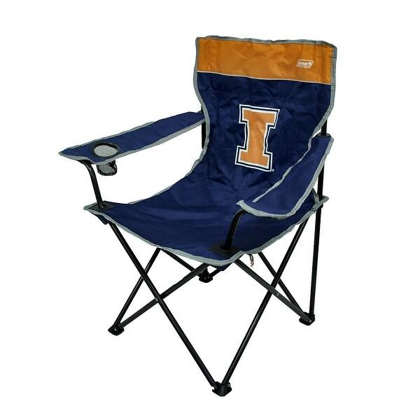 folding quad chair eiffel oak legs shop illinois fighting illini blue free