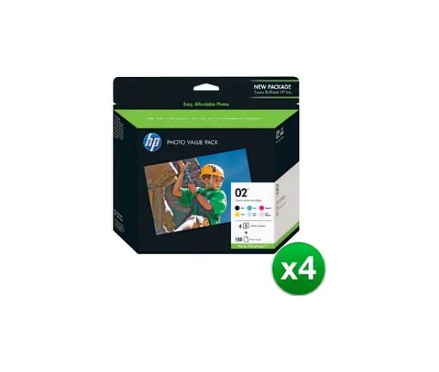 Hp 02 Series Value Pack  X 6 In Original Ink Cartridges
