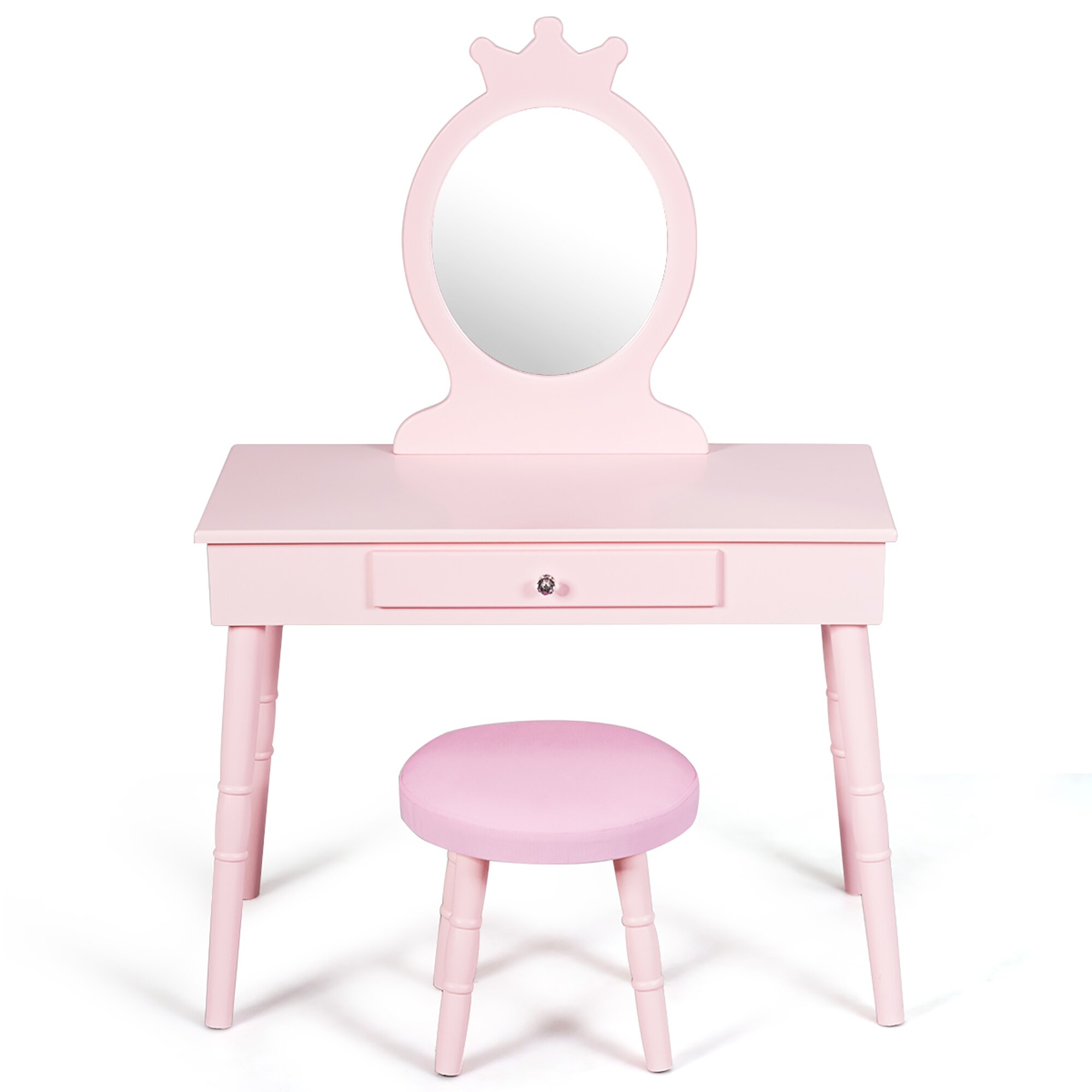 kids vanity makeup table and chair set for children