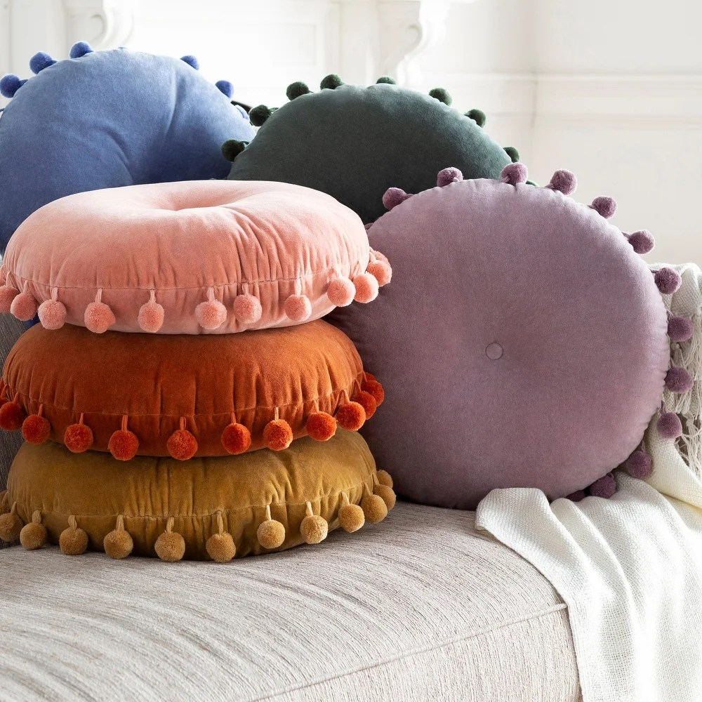 round throw pillows online at overstock