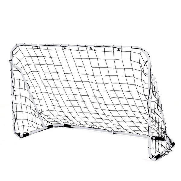 Shop Costway 6' x 4' Steel Football Soccer Goal Net Gate