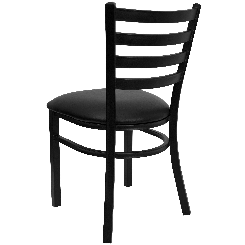 Ladder Back Metal Restaurant Chair 16 5 W X 17 D X 32 25 H 16 5 W X 17 D X 32 25 H On Sale Overstock 10673582